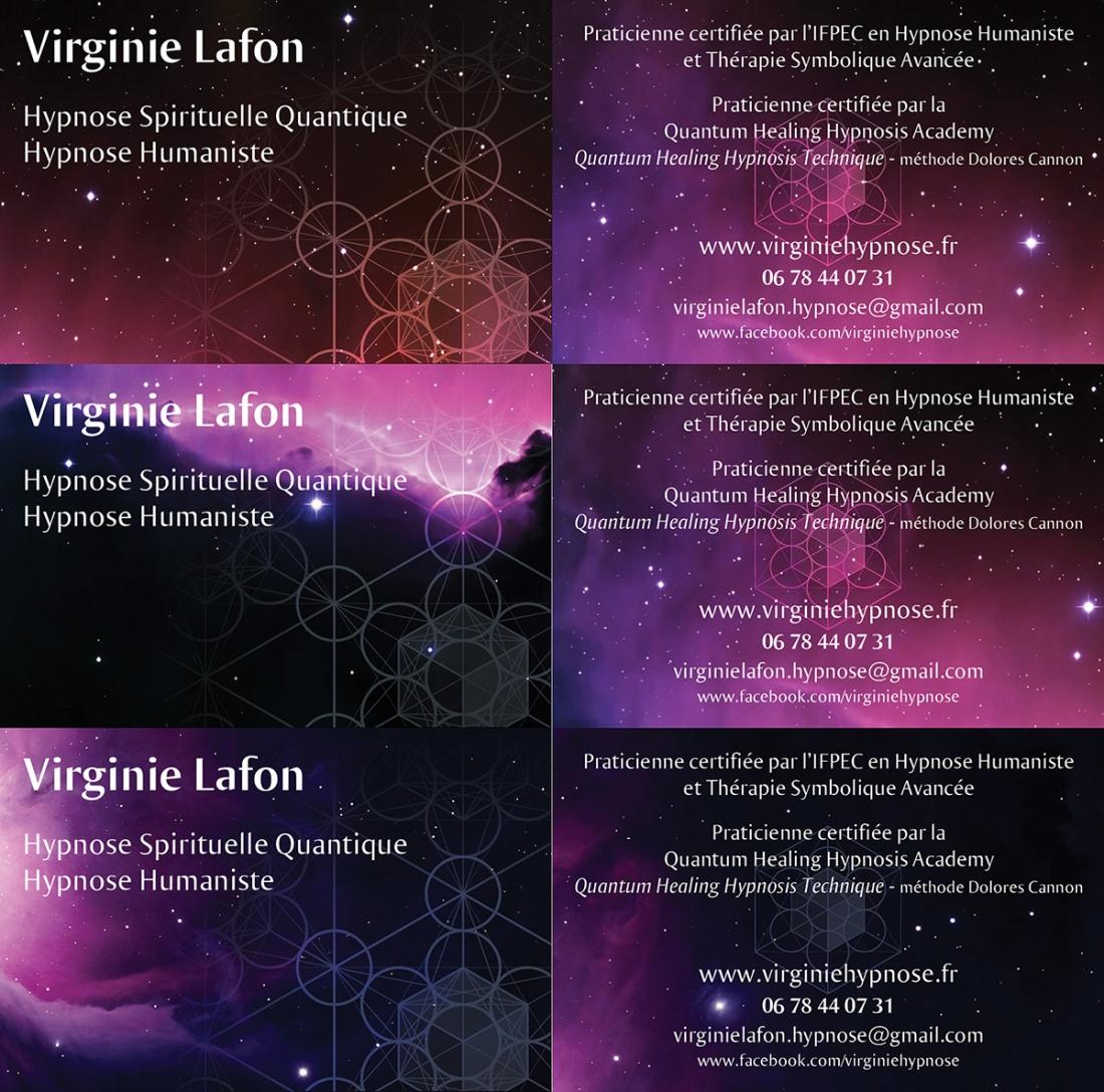 Carte De Visite Virginie Lafon Hypnose