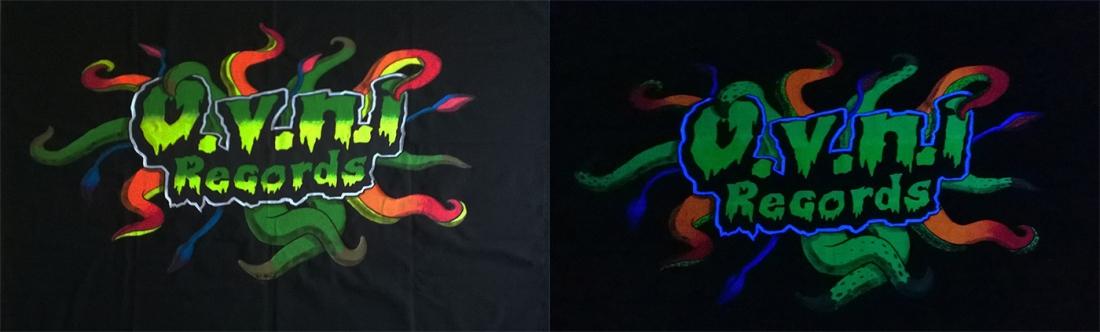 ovni records tenture fluorescente tentacules alien